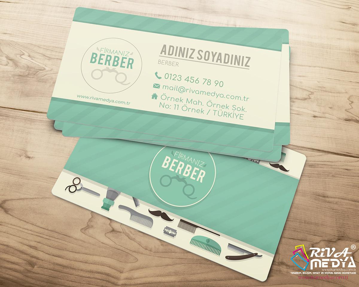 Berber 05 Kartvizit - Hazır Kartvizit Tasarımı