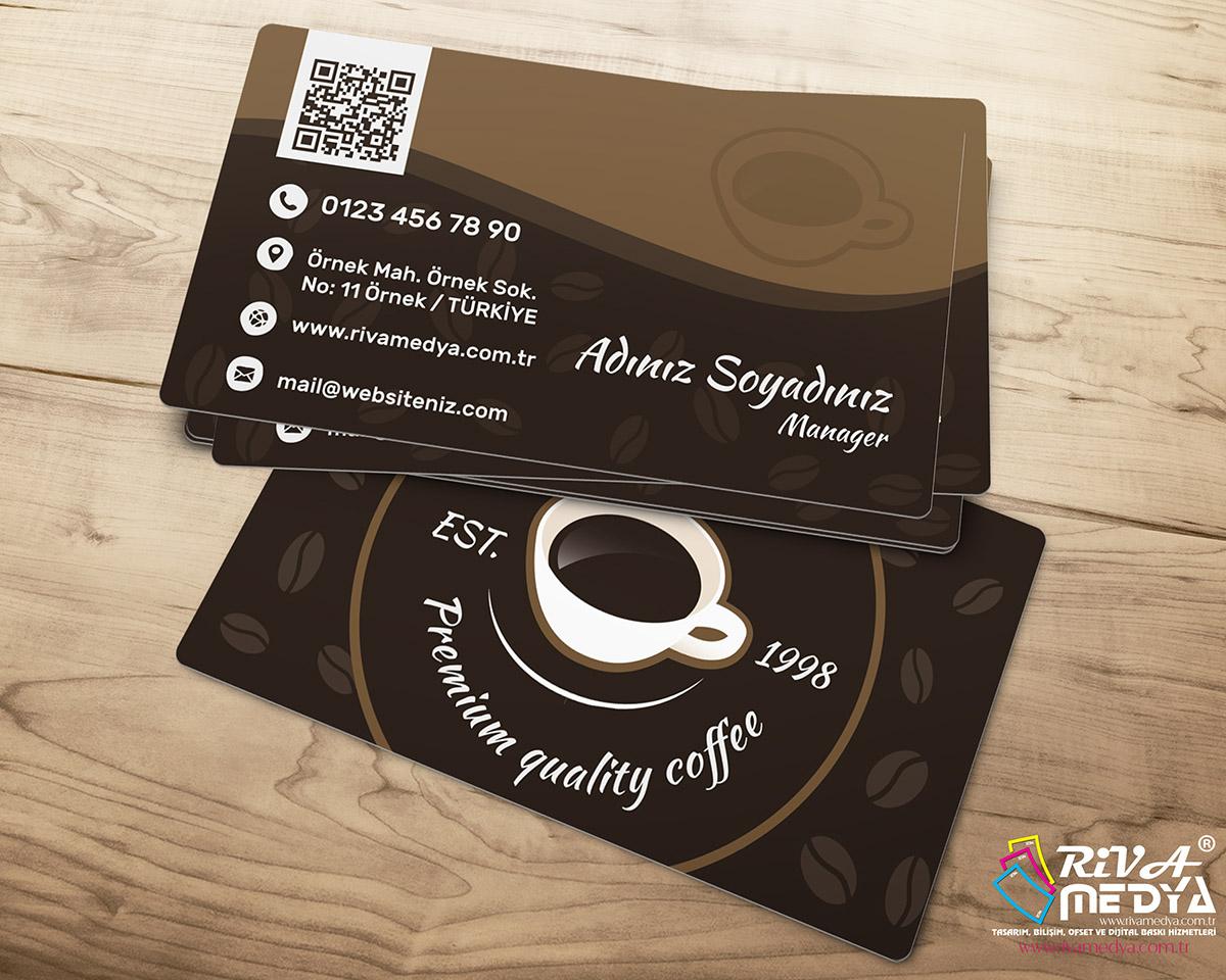Kahve Salonu Kartvizit - Hazır Kartvizit Tasarımı