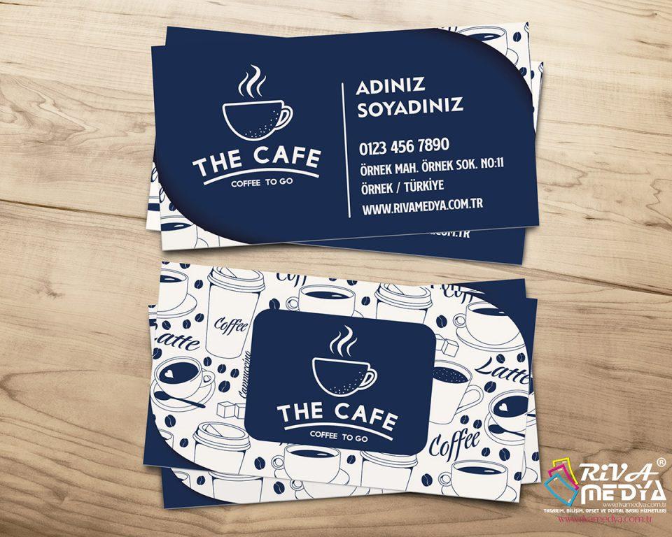 Cafe Kartvizit - Hazır Kartvizit Tasarımı
