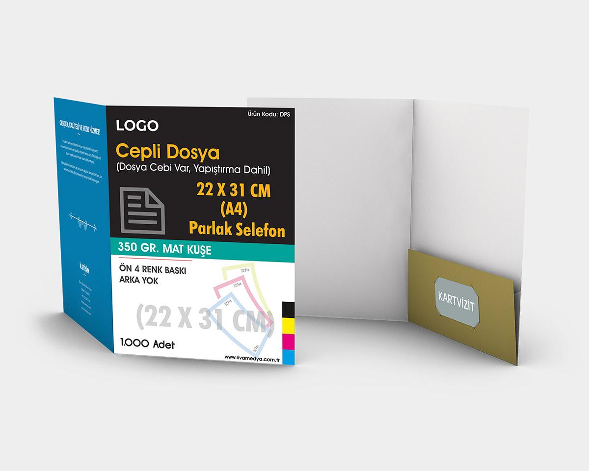 Cepli Dosya - 22x31 CM (A4 Dosya) - (Tasarım + Baskı)