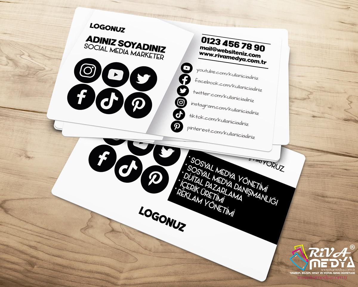Social Media Marketer Kartvizit - Hazır Kartvizit Tasarımı