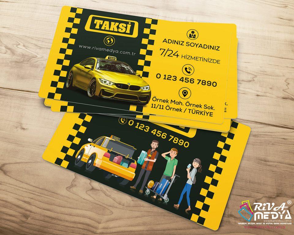 Taksi 08 Kartvizit - Hazır Kartvizit Tasarımı