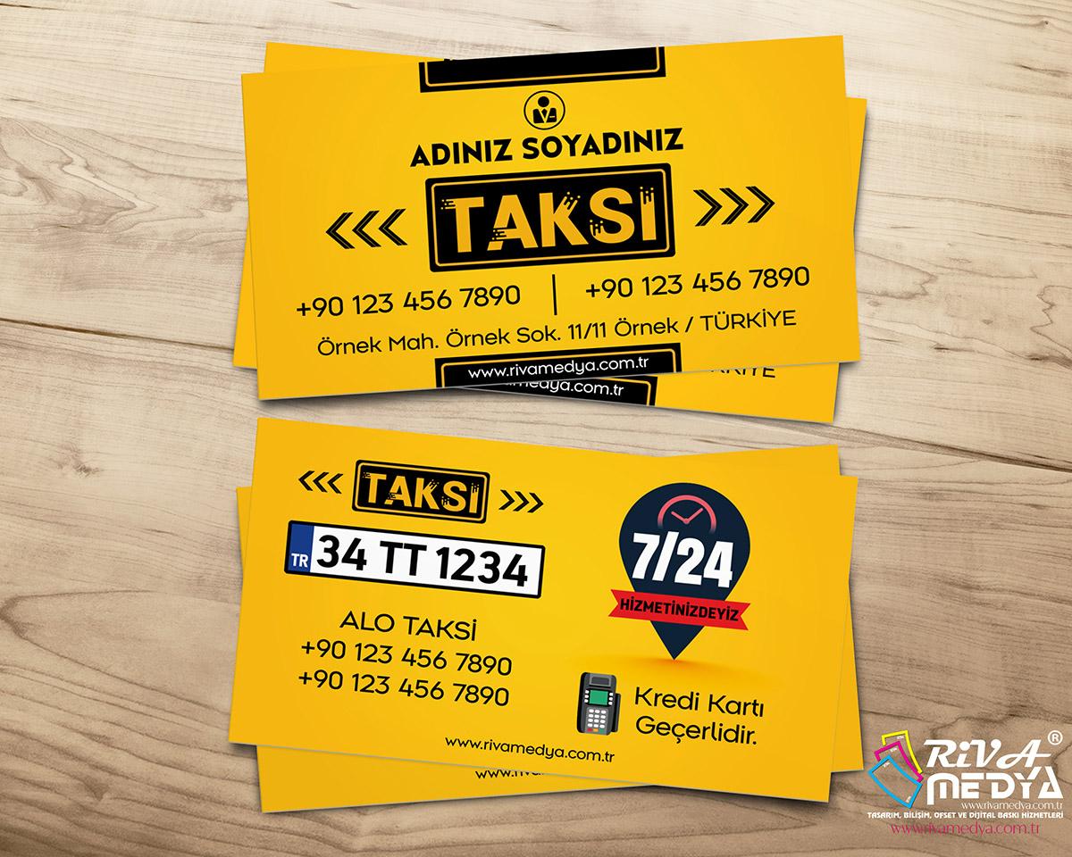 Taksi 09 Kartvizit - Hazır Kartvizit Tasarımı