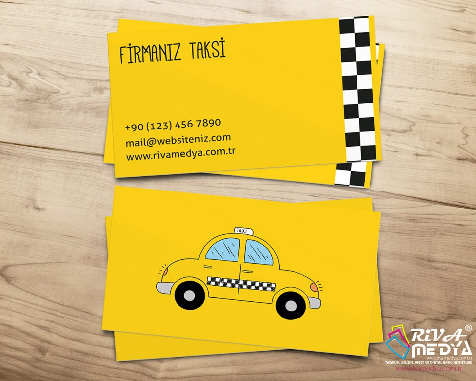 Taksi 16 Kartvizit - Hazır Kartvizit Tasarımı