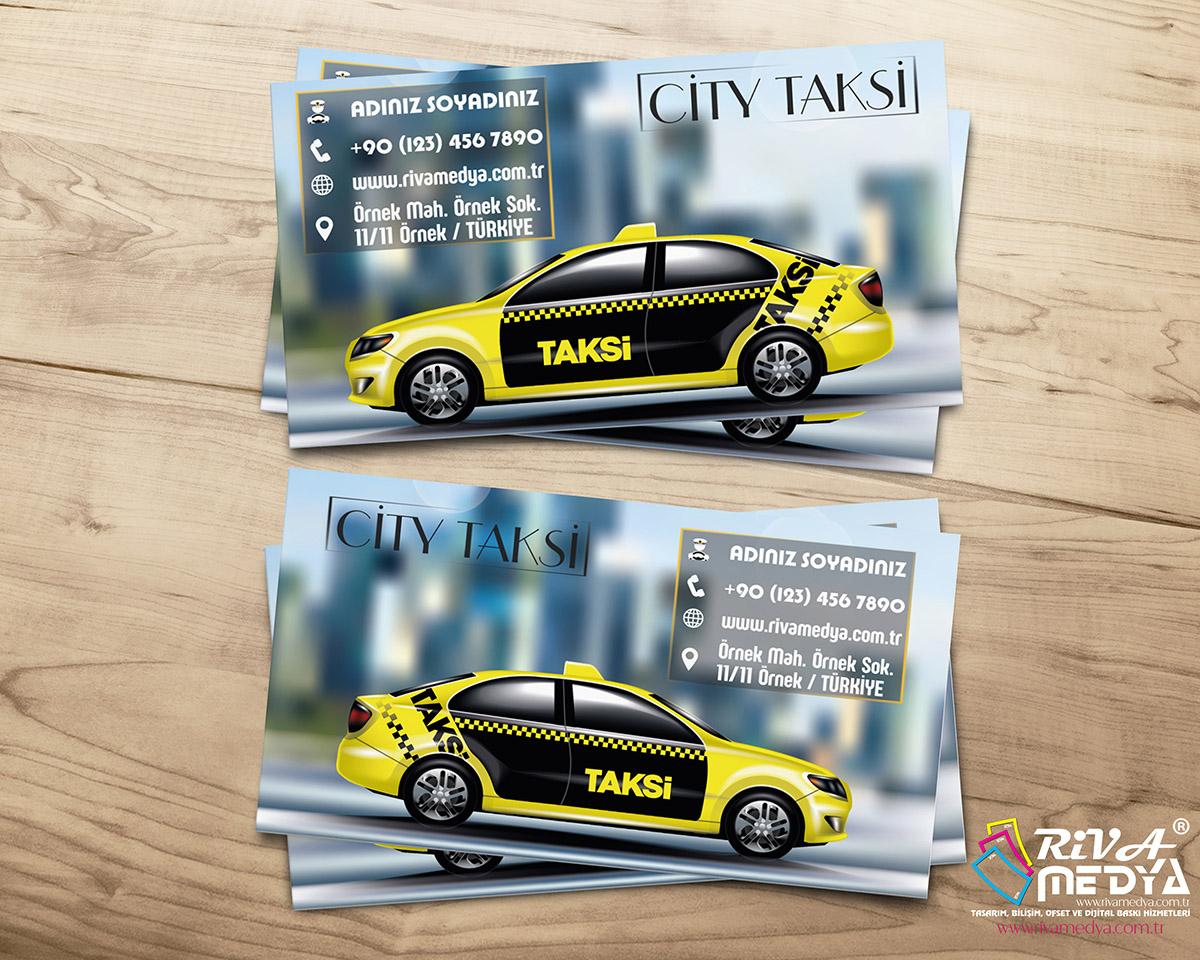 City Taksi Kartvizit - Hazır Kartvizit Tasarımı