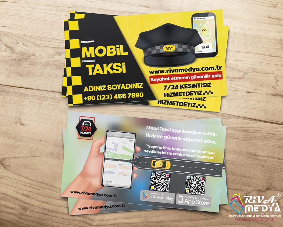 Mobil Taksi Kartvizit - Hazır Kartvizit Tasarımı