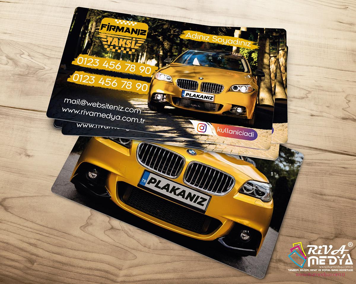 Lüks Taksi Kartvizit - Hazır Kartvizit Tasarımı