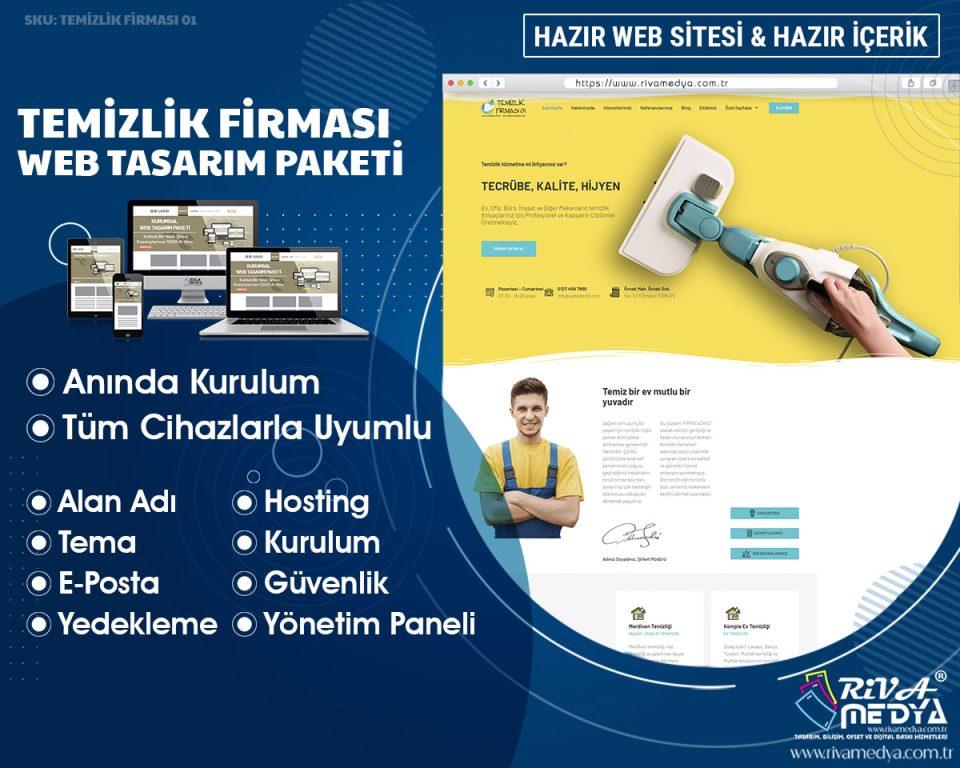 Temizlik Firması 01 - Hazır Web Sitesi Paketi