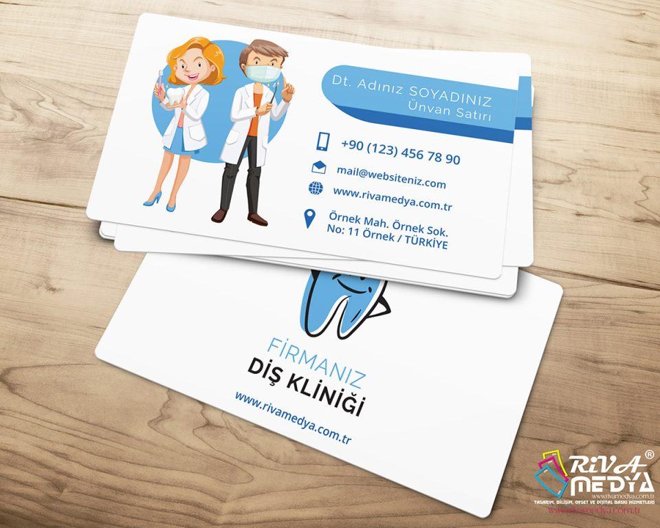 Diş Kliniği Kartvizit - Hazır Kartvizit Tasarımı