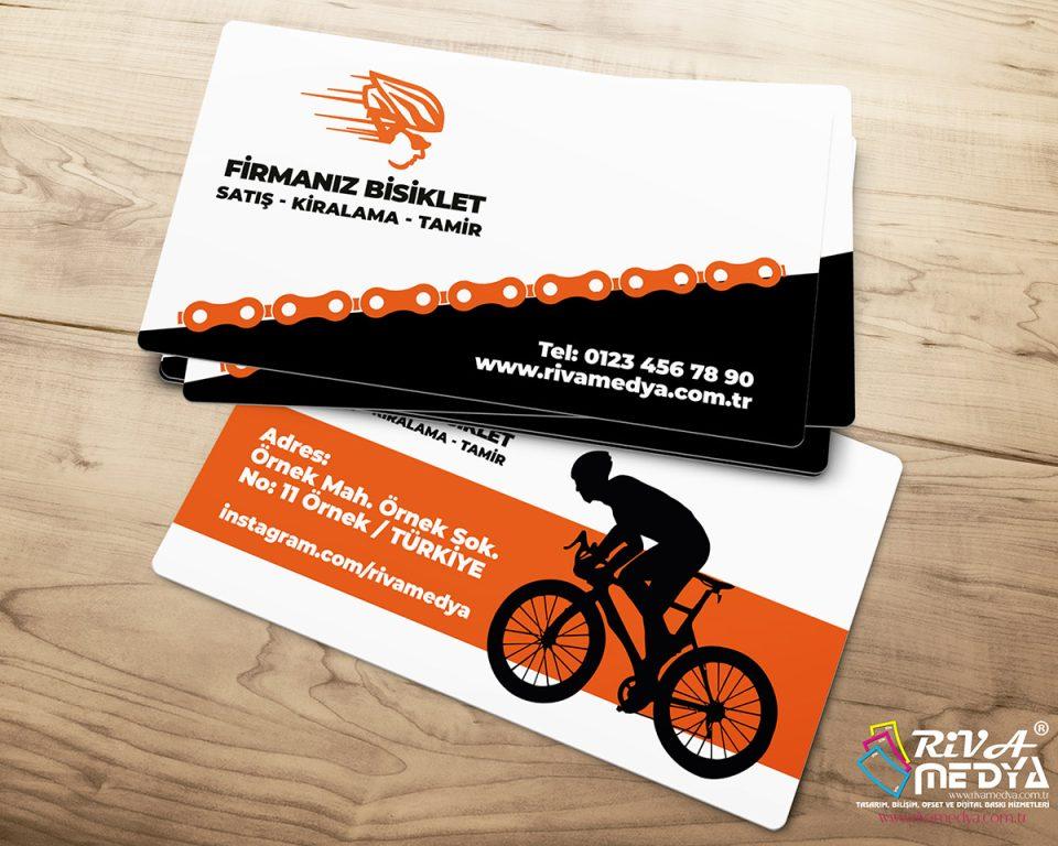 Bisikletçi Kartvizit - Hazır Kartvizit Tasarımı