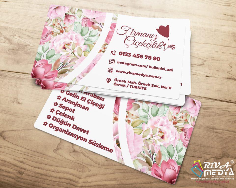 Çiçekçilik Kartvizit – 03 - Hazır Kartvizit Tasarımı