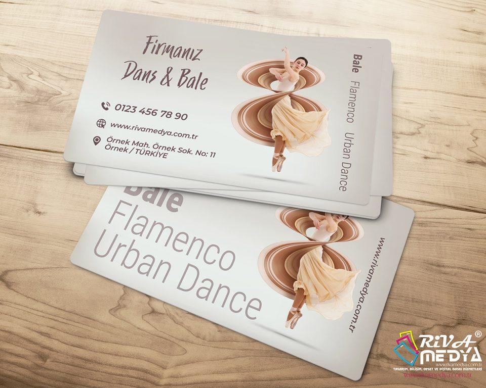Dans ve Bale Kursu Kartvizit - Hazır Kartvizit Tasarımı