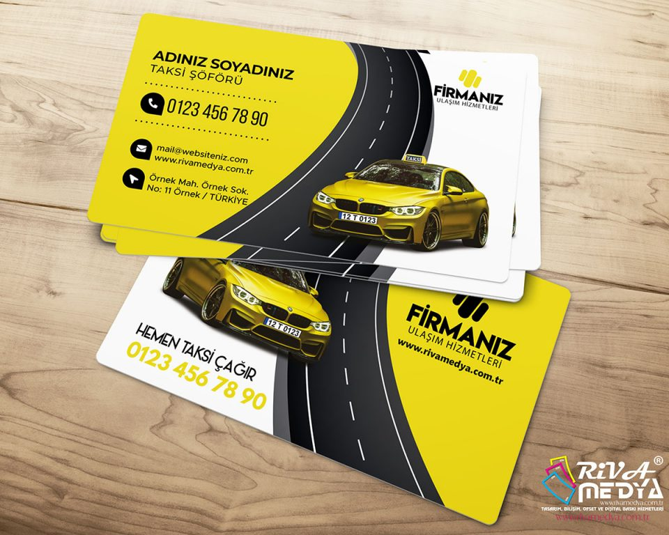 İstanbul Taksi Kartvizit - Hazır Kartvizit Tasarımı